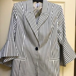 Cabi pin-striped bell jacket